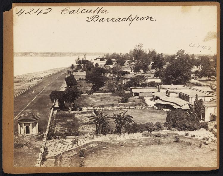 View of Barrackpore Near Calcutta (Kolkata) - Mid 19th Century