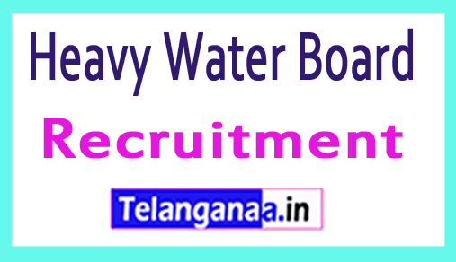 Heavy Water Board HWB Recruitment