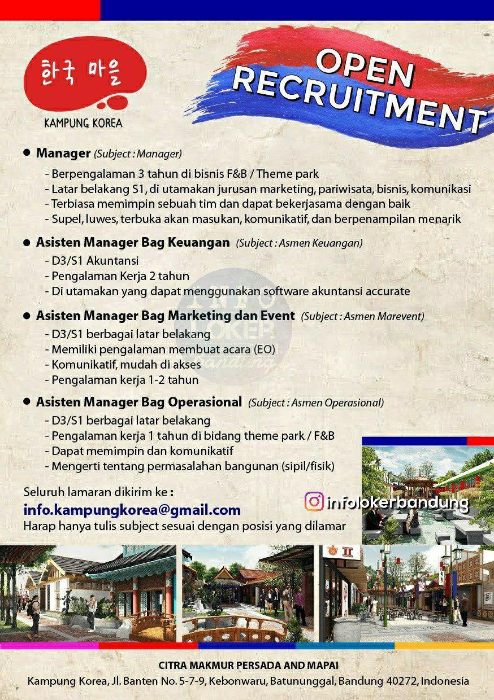 Lowongan Kerja Kampung Korea Bandung November 2018