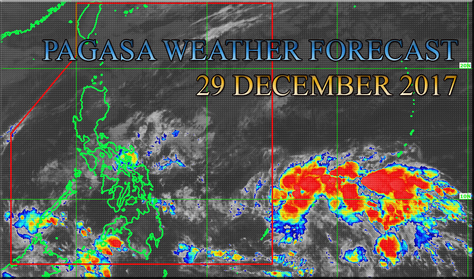 Pagasa weather forecast for 29 december 2017 new storm for Bureau weather