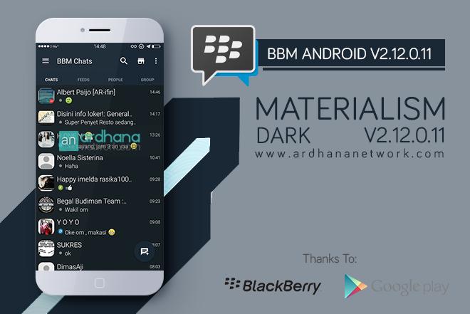 BBM Materialism Dark - BBM Android V2.12.0.11