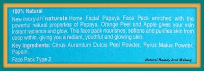 Everyuth Naturals Home Facial Papaya Face Pack