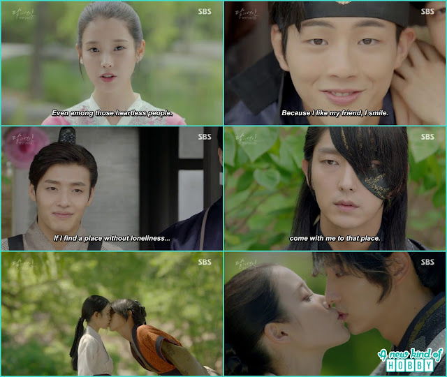 hae Soo remember all the past good moments with Prince and King Wang Jung- Moon Lovers Scarlet Heart Ryeo - Episode 20 Finale (Eng Sub)