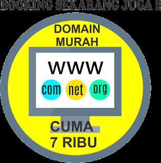 """""""domain murah cuma 7 ribu"""""""