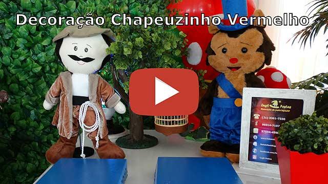 Decoração de mesa de aniversário Chapeuzinho Vermelho provençal