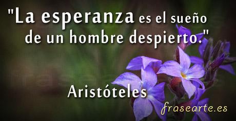 frases esperanzadoras de Aristóteles