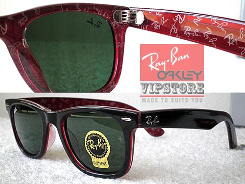 f65f49907b4 Ray-Ban Wayfarer Rare Print Rayban Logo Grade 6A