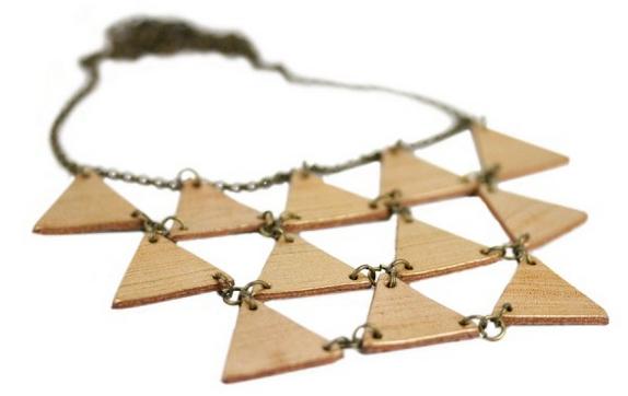 Sautoir triangle d'or Bijoux Chérie