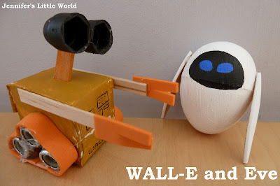 Wall-e and Eve small homemade toys