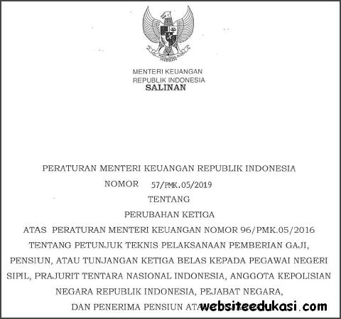 PMK Nomor 57/PMK.05/2019 tentang Juknis Pemberian Tunjangan Gaji Ke-13
