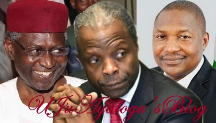 THE UNTOLD, Why Minister of Justice, Malami Joins Force With Cabal To Betray, Frustrate Osinbajo In Terrible Presidency Fight