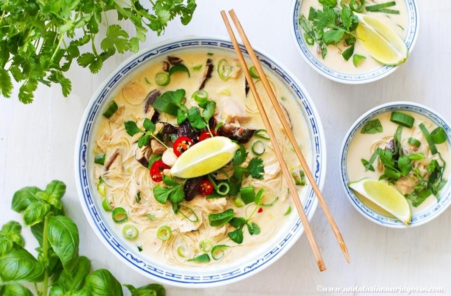 thaimaalainen_kookos_kana_nuudelikeitto_kosher_gluteeniton_Andalusian auringossa_ruokablogi_1