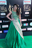 Manjusha in Beautiful Sleeveless Green Anarkali dress at IIFA Utsavam Awards 18.JPG