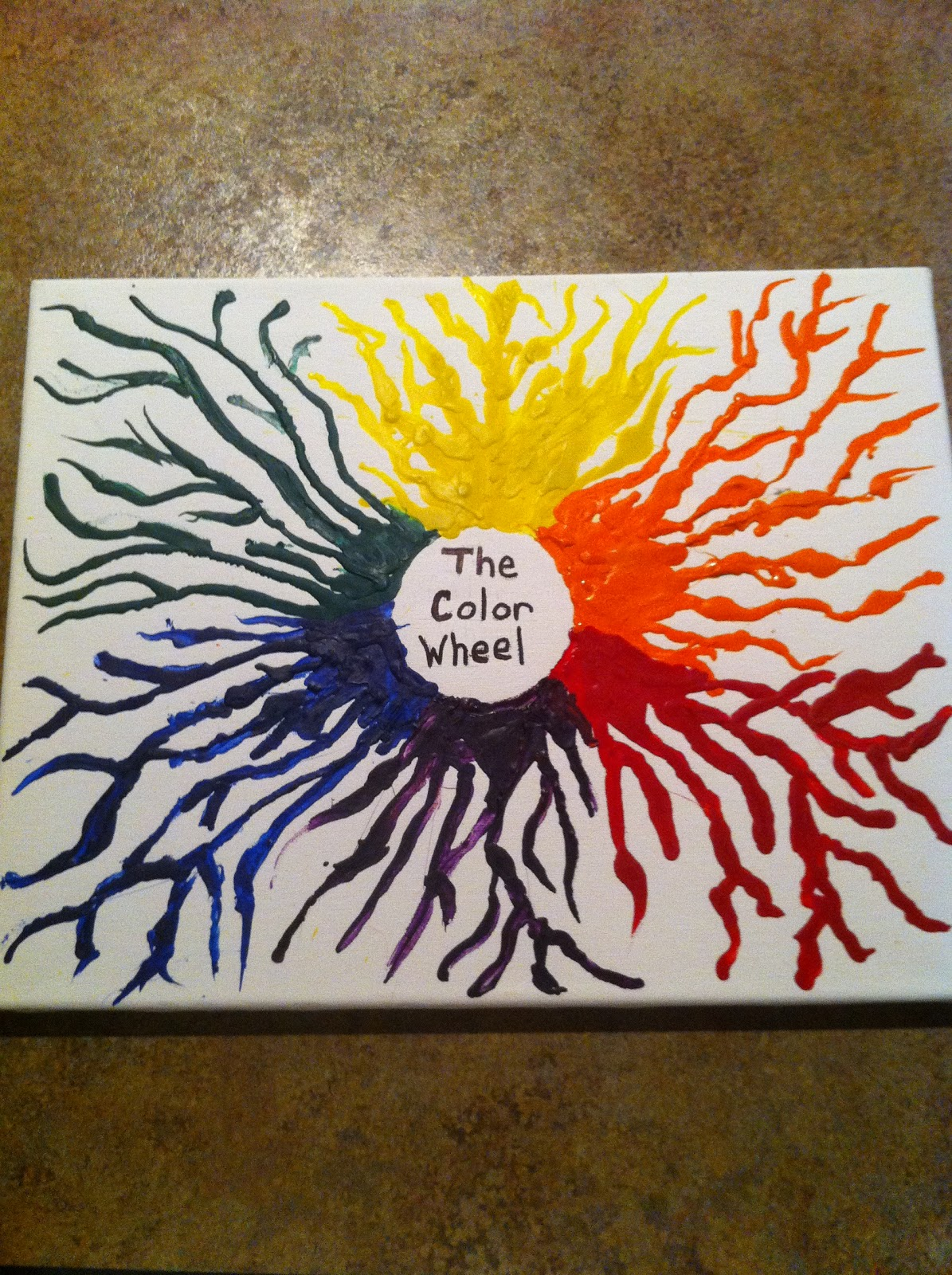 Color Wheel Ideas Planting Melted Crayon Art