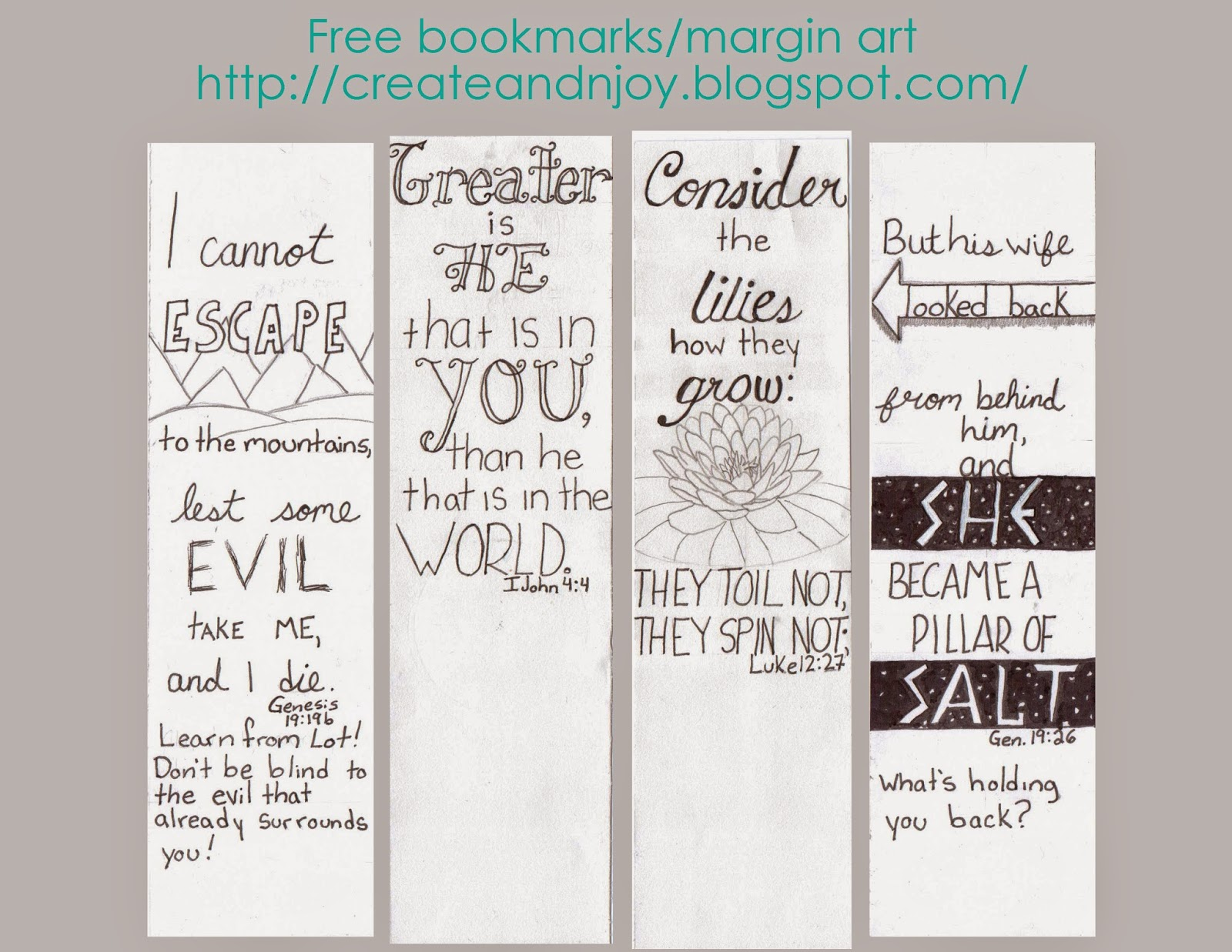 Create Amp N Joy 4 More Bible Journaling Printables And What I Learned From Lot
