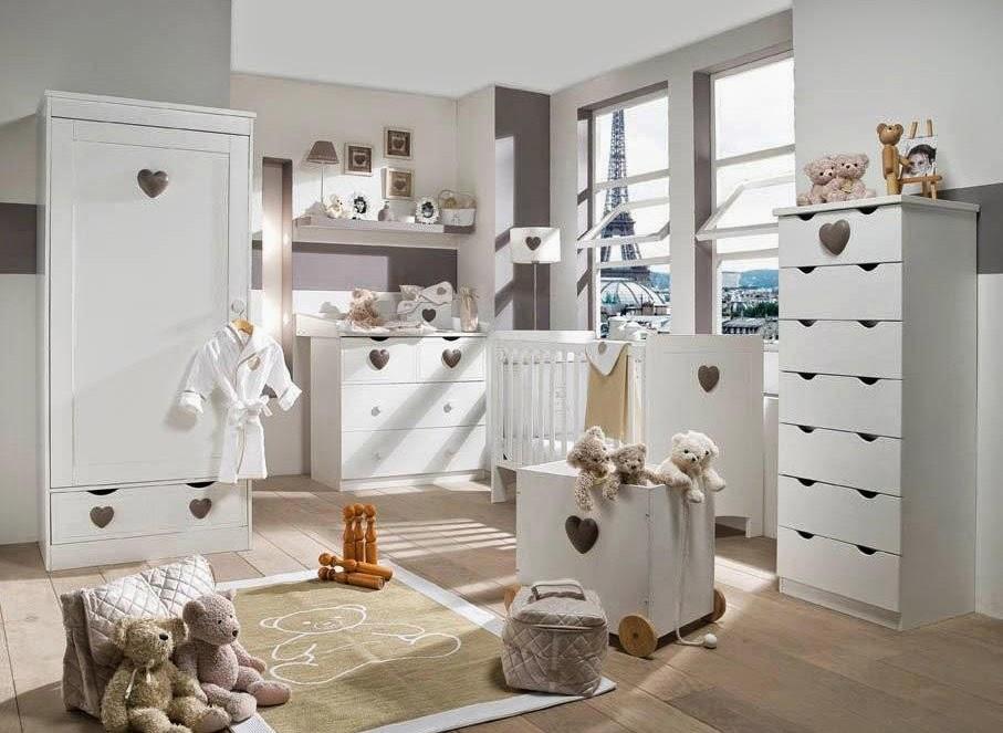 Habitación bebé color blanco