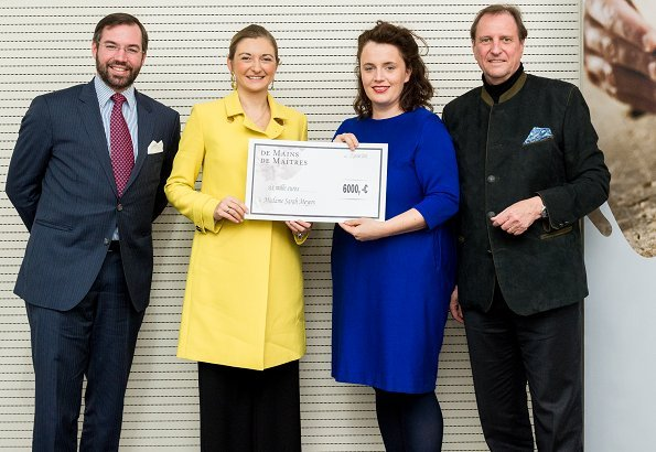 Grand Duchess Stephanie and Hereditary Grand Duke Guillaume met with ceramic artist Sarah Meyers for De Mains de Maîtres exhibition