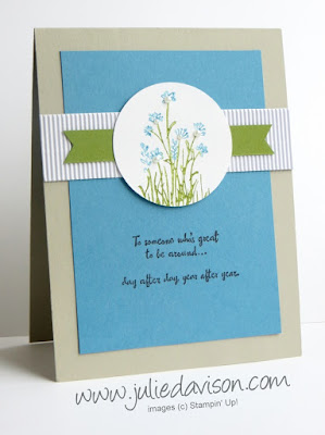 Stampin' Up! In the Meadow from #stampinup 2016 Occasions Catalog www.juliedavison.com