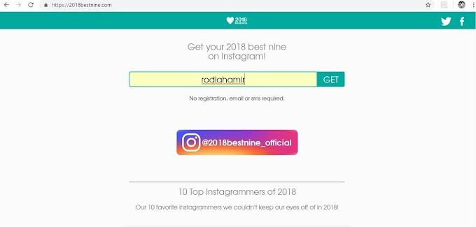 Cara buat Best Nine Instagram 2018