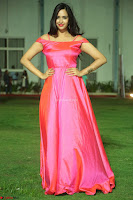 Actress Pujita Ponnada in beautiful red dress at Darshakudu music launch ~ Celebrities Galleries 024.JPG