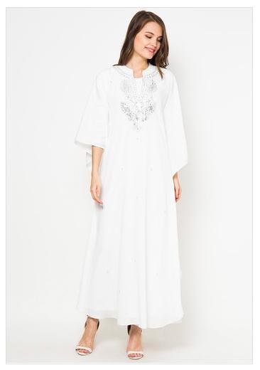 kumpulan model baju jubah bordir muslim wanita 2015