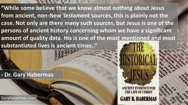 "Quote from Gary Habermas from his book ""The Historical Jesus: Ancient Evidence For The Life of Christ""- ""While some believe that we know almost nothing about Jesus from ancient, non-New Testament sources, this is plainly not the case. Not only are there many such sources, but Jesus is one of the persons of ancient history concerning whom we have a significant amount of quality data. His is one of the most mentioned and most substantiated lives is ancient times."" #History #Jesus #Christianity #Evidence #Religion #God"