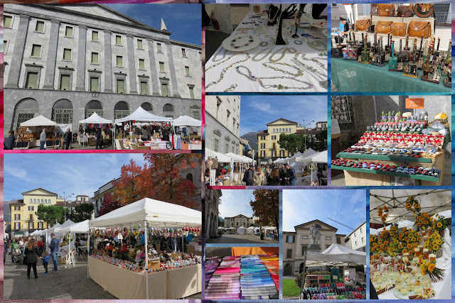 Weekend City Break in Bergamo Italy: Day trip to Lecco. Town Market