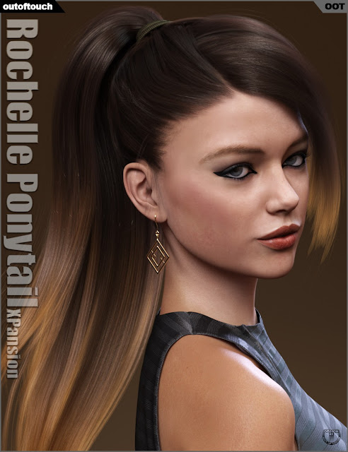 Rochelle Ponytail Hair Iray Texture XPansion