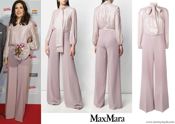 Crown Princess Mary wore MAX MARA STUDIO georgette jumpsuit