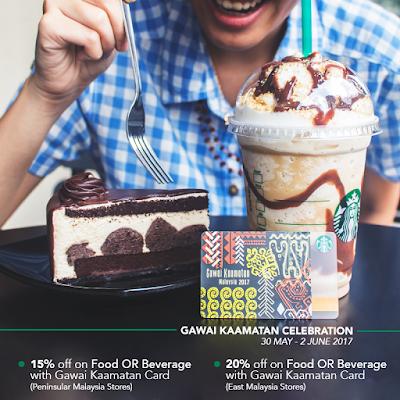 Starbucks Malaysia Hari Gawai Pesta Kaamatan Card Discount Promo