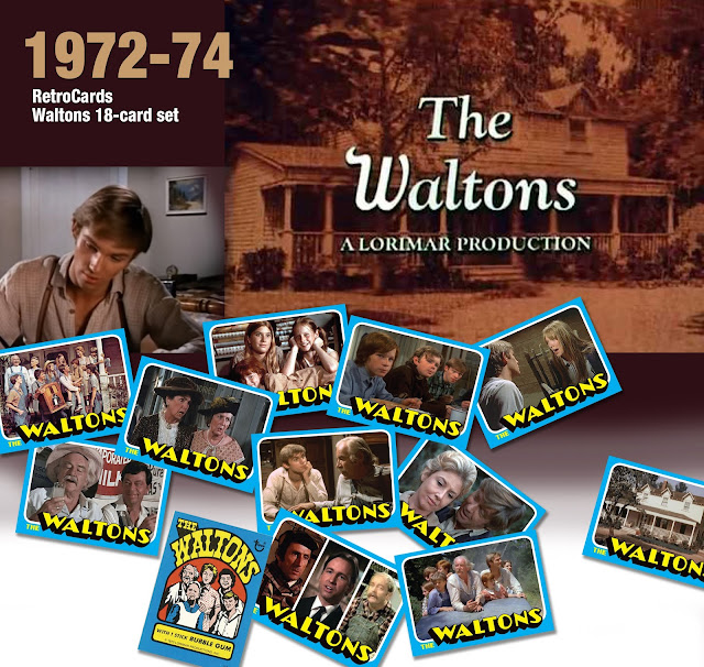 Topps test set waltons, retrocards custom cards that never were 1972 1973 1974