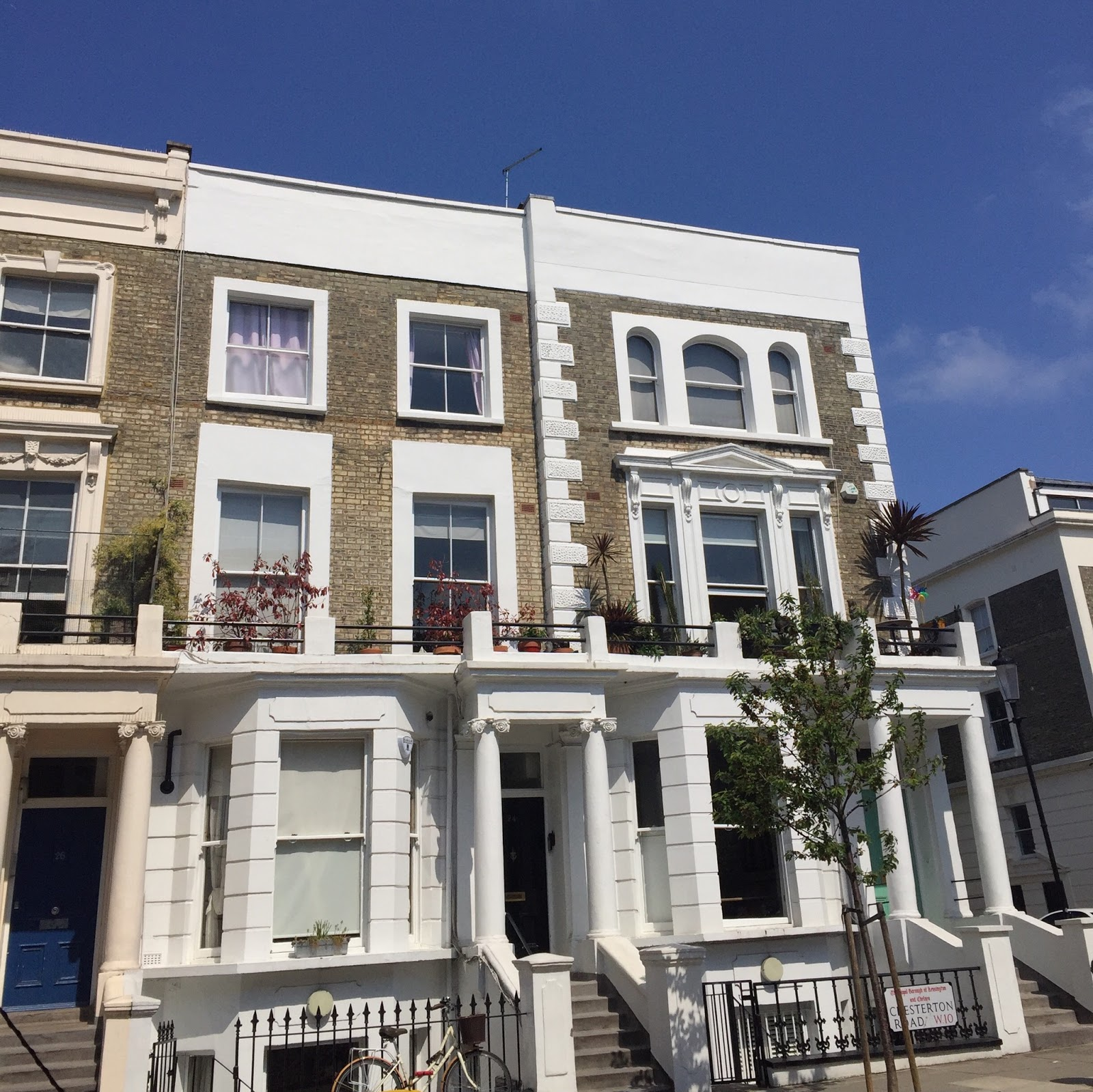 Row of houses in Notting Hill London