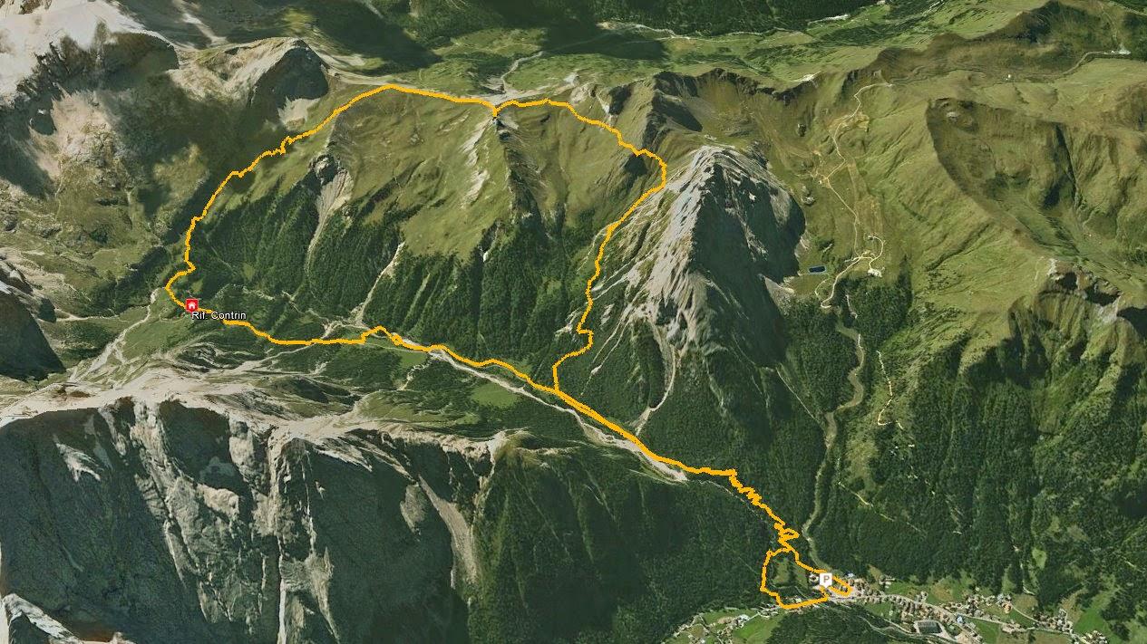 GPS Rifugio Contrin