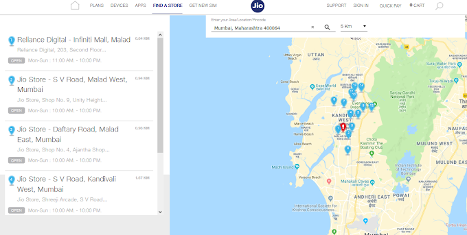 Jio Store Locator - Locate Nearest Jio Store, Reliance Digital and Digital Xpress Mini Stores