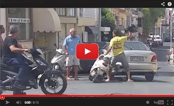 XAMOΣ!!! Κρήτη - Μηχανόβιος πουλάει τρέλα στον παππού και αυτός τον... δέρνει