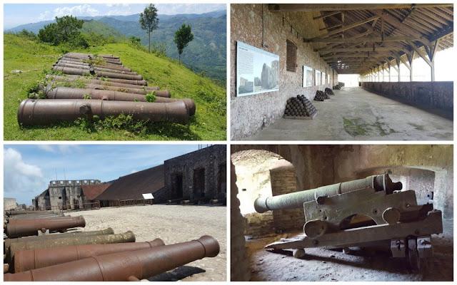 cañones de la Citadelle laferrière de Haití