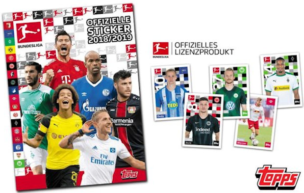 Fabian Johnson Sticker 194 TOPPS Bundesliga 2018//2019