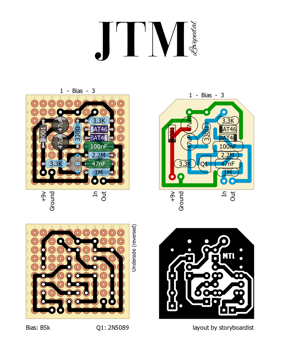 Perf And Pcb Effects Layouts Lovepedal Jtm
