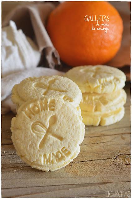 Galletas de maíz de naranja