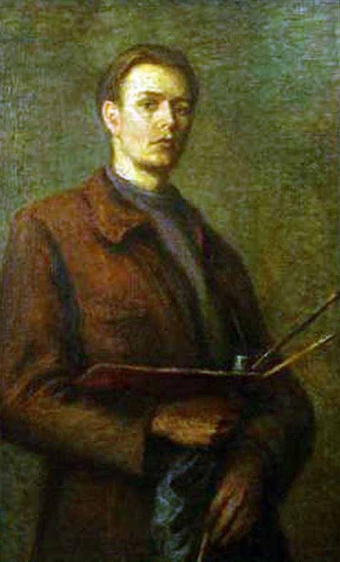 Wojciech Fangor, Self Portrait, Portraits of Painters, Fine arts, Portraits of painters blog, Paintings of Wojciech Fangor, Painter
