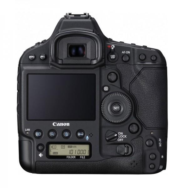 Fotografia del dorso della Canon EOS-1D X Mark II