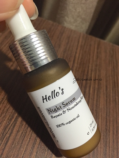 Review : Hello's Night Serum by Nature Leaves by Jessica Alicia