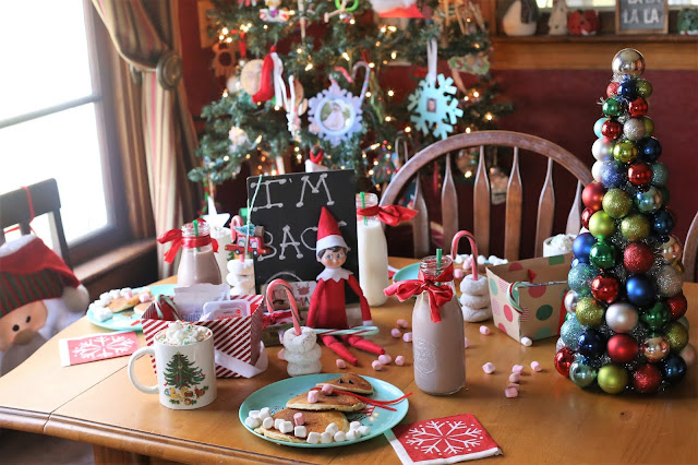 North Pole Breakfast for Elf on the Shelf arrival