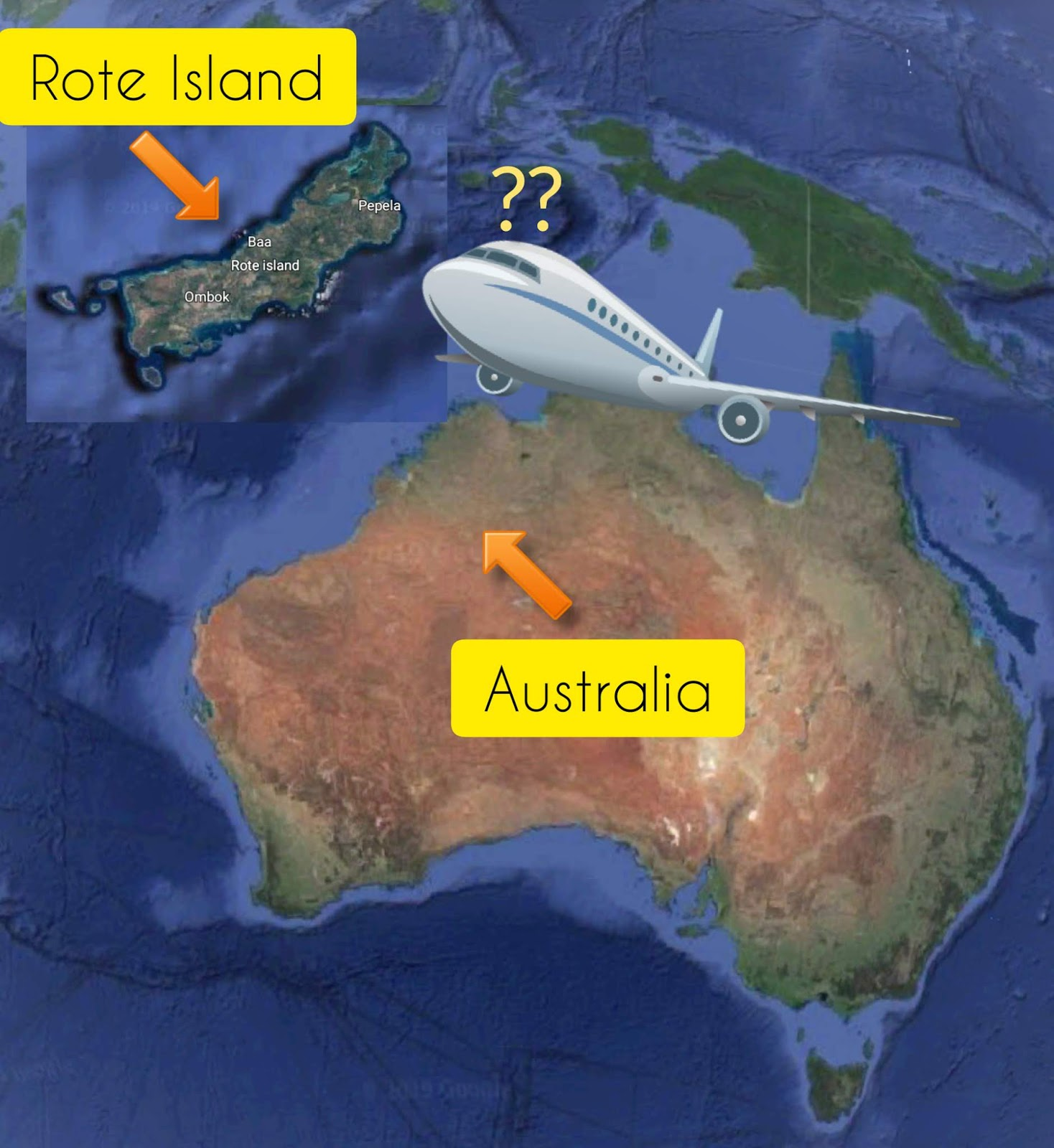 how to get to rote island from australia