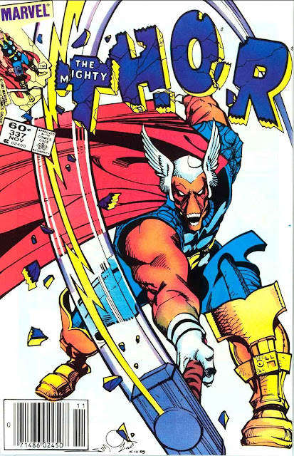 Thor v1 #337, 1983 marvel comic book cover by Walt Simonson - 1st Beta Ray Bill