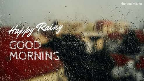 Happy Rainy Good Morning with Rose