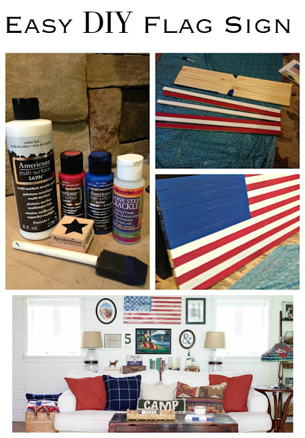 Make your own DIY American flag