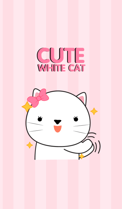 Cute White Cat Icon