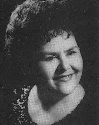 María del Carmen Escobar, foto en blanco y negro