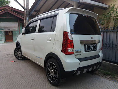Modifikasi Suzuki Wagon R - Over Fender + Diffuser